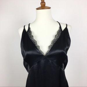 Zara Basic Connection Satin Slip Dress Size Small